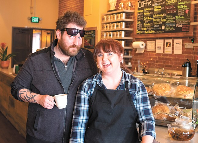Thomas Kilborn and Savannah Breeden are introducing tea to Spokane's masses. - HECTOR AIZON