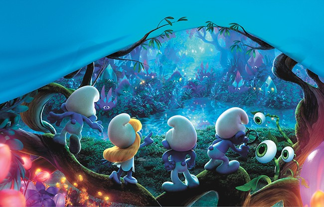 Smurfette takes the lead, but the movie misfires.