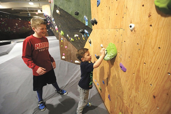 Young climbers can hone their skills this summer at Spokane's new Bloc Yard Bouldering Gym. - YOUNG KWAK