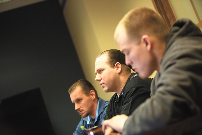 """""""I didn't know what he looked like until he came in and sat down on the stand,"""" Tyler Gassman (right) says of the jailhouse informant who testified against him. - YOUNG KWAK"""