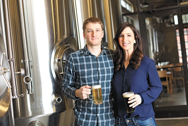 Ben and Christy Lukes of Perry Street Brewing are hosting several Craft Beer Week events. - YOUNG KWAK