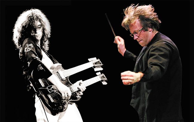 The Spokane Symphony will channel Jimmy Page's guitar wizardry.