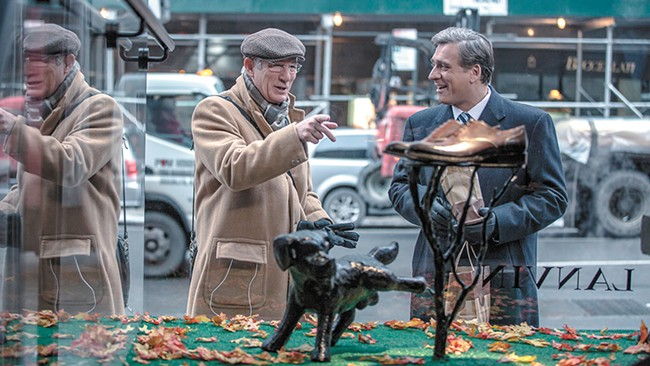 Neither an officer nor a gentleman: Richard Gere schmoozes his way through New York in Norman.
