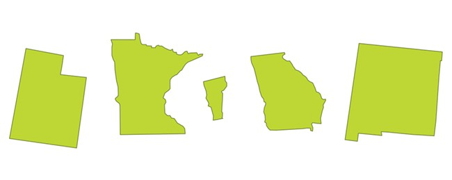 Mixed results regarding cannabis from these fives states.
