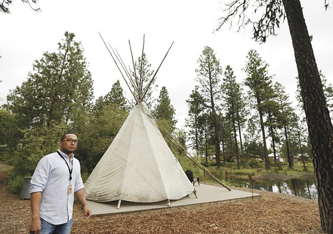 Coeur d'Alene Casino Resort and Hotel Cultural Affairs Director Quanah Matheson. - YOUNG KWAK