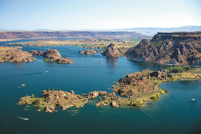 Make a pilgrimage to Grand Coulee Dam and Banks Lake Reservoir.