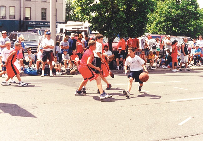 The killer basketball instinct started early for the author. | Michele Criscione photo - MICHELE CRISCIONE