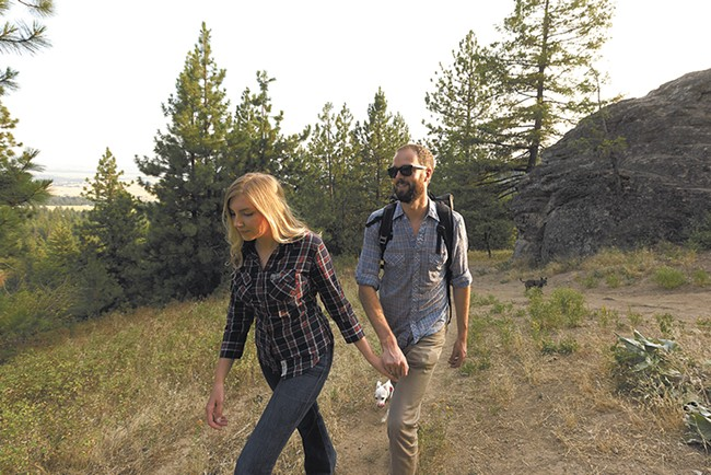 Heading up the Iller Creek loop, toward the Rocks of Sharon. - YOUNG KWAK