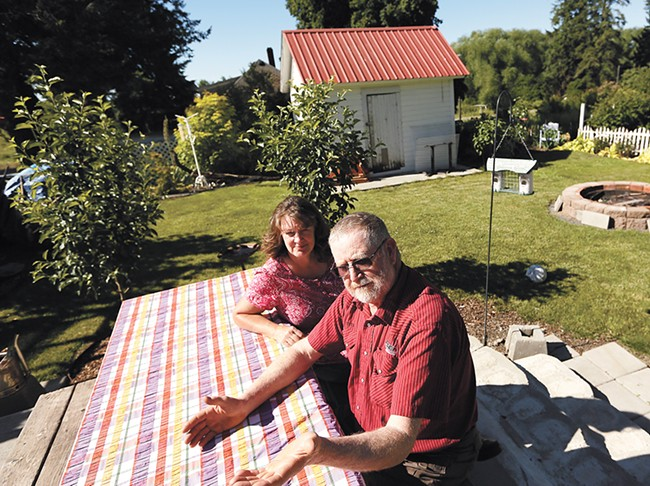 Latah Councilman Steve Leitz and his wife Laurie aren't sure the town should stay incorporated. - YOUNG KWAK