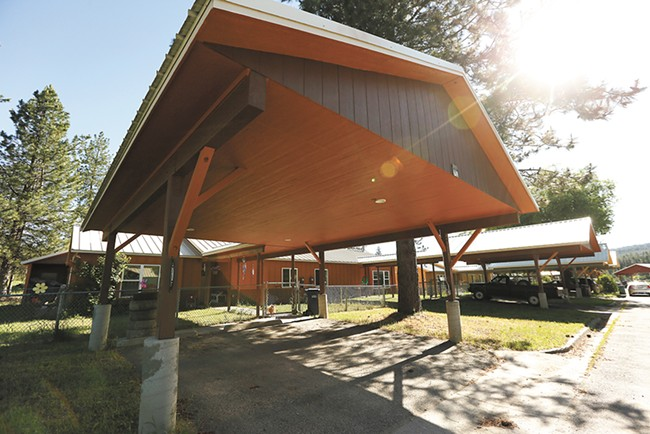 A $1 million grant will help the tribe install solar panels to power elder housing shown here. - YOUNG KWAK