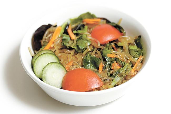 Order Ephata Café's Korean noodle salad with japchae noodles. - YOUNG KWAK