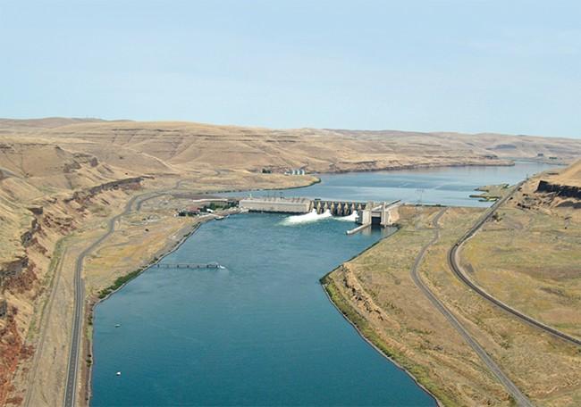 The Lower Monumental Dam on the Snake River, near Kahlotus, Washington. - COLUMBIA BASIN FEDERAL CAUCUS PHOTO