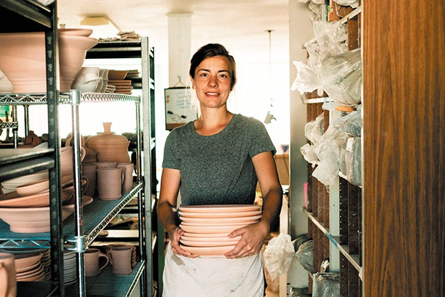 Kelsey Jo Johnson at her studio. - ALYCIA LOVELL