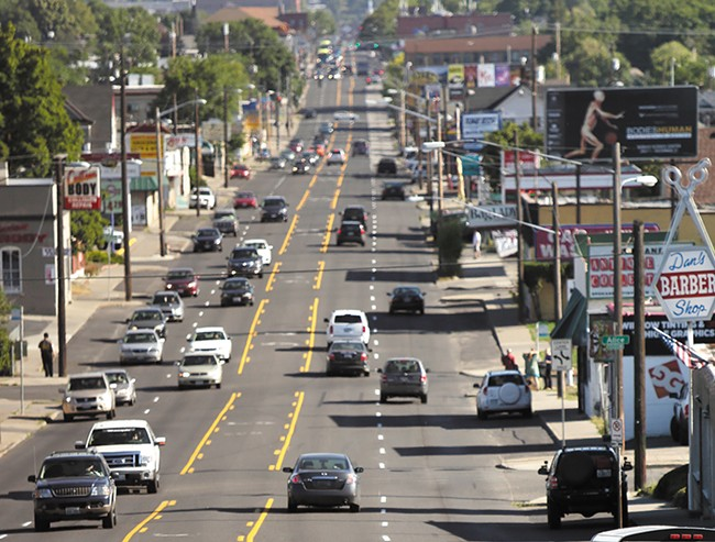 The current flow of traffic along North Monroe Street. - YOUNG KWAK