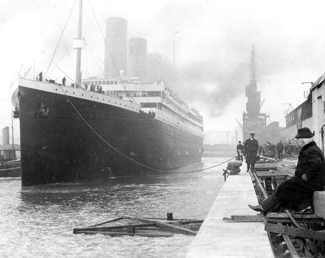 The RMS Titanic prior to her 1912 maiden voyage.