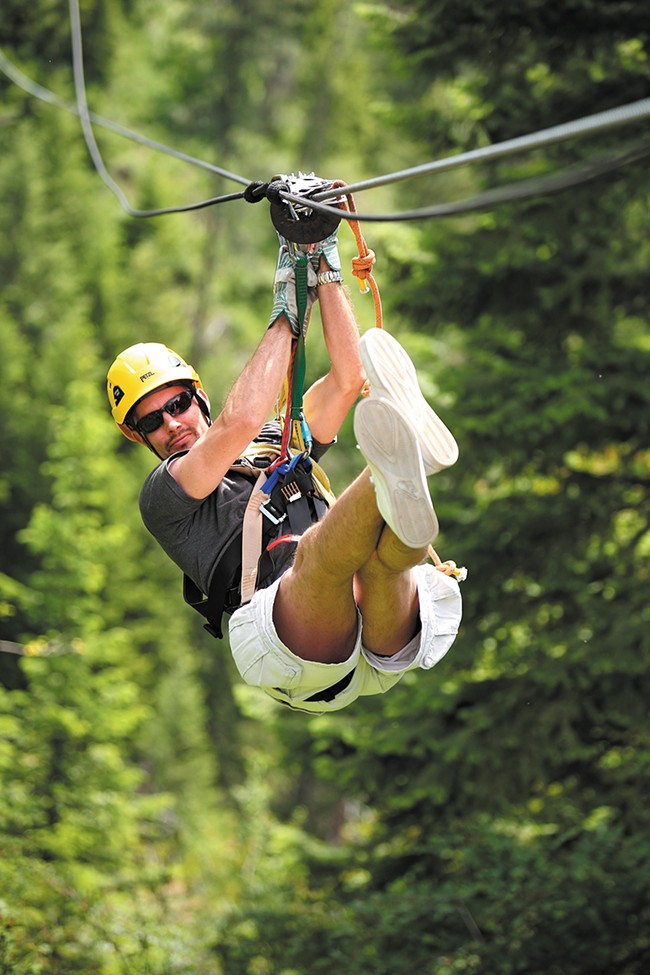 Flying high at Silver Streak Zipline Tours. - YOUNG KWAK