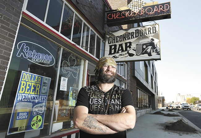 Checkerboard owner Ian Maye has started a GoFundMe page to help his bar, which struggled during construction on East Sprague. - YOUNG KWAK