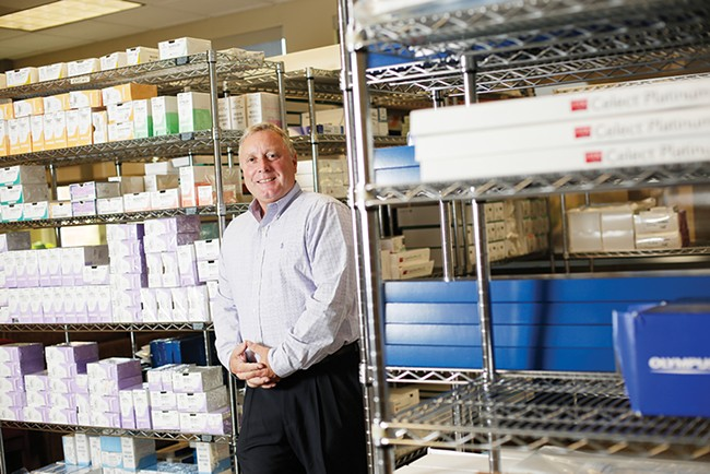 Murray Walden's Spokane company, H-Source, provides a marketplace where hospitals can resell and purchase medical supplies. - YOUNG KWAK