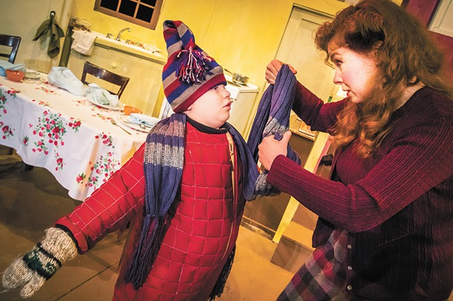 Brody Else as Randy and Tami Knoell as Mother in A Christmas Story. - JEFF FERGUSON