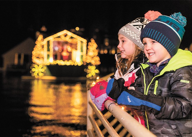 Holiday lights cruises run daily at the Coeur d'Alene Resort. - CDA RESORT