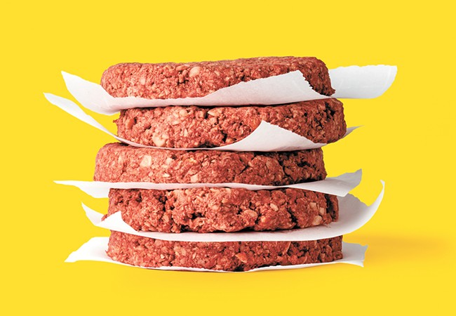 The Impossible Burger is made from plants, but tastes like beef.