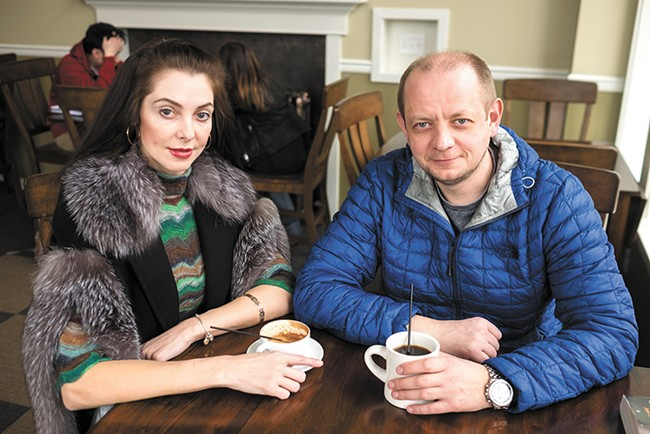Iryna and Igor Anisimov opened Cedar Coffee in November. - HECTOR AIZON