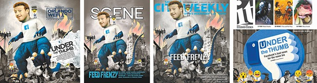 FROM LEFT: The Cleveland Scene, Salt Lake City Weekly, Illinois Times and Orlando Weekly.
