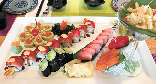 A selection of sushi menu items served at Chef Lu's. - QUINN WELSCH