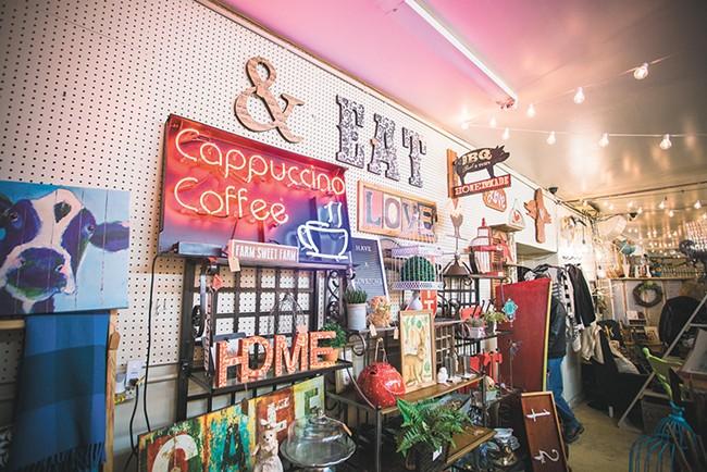 """""""We focus on displays, using everyday things in unusual ways,"""" says owner Megan Eatock. - YOUNG KWAK"""