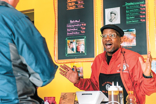 RJ's is a one-man shop run by chef-owner Reggie Perkins. - ERICK DOXEY PHOTO
