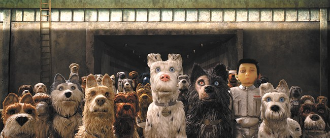 Bryan Cranston, Edward Norton, Bill Murray and Jeff Goldblum voice some of the scruffy canine heroes of Wes Anderson's animated Isle of Dogs.