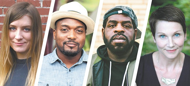 FROM LEFT: Chelsea Martin, Bryant Terry, Hanif Abdurraqib and Maggie Smith all read at this year's festival.