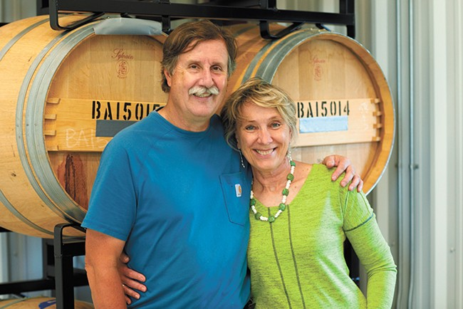 Phillip and Patricia Butterfield opened Winescape's tasting room last November. - DOUG ADESKO PHOTO