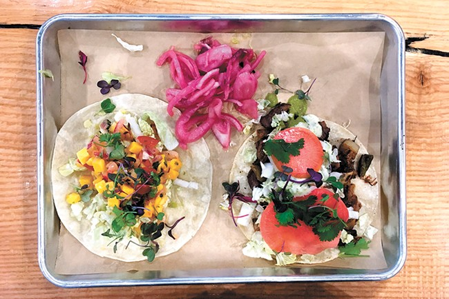 Pick any two tacos and a side for $15. - CARRIE SCOZZARO PHOTO