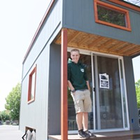 A high school senior in Spokane built a tiny home for a school project and plans to live in it during college