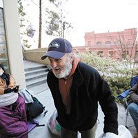 Though homeless himself, James Welch does whatever he can to help others in need