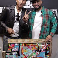"Pharrell is the happy owner of some ""abstract topophilia"" from local artist Ben Joyce"