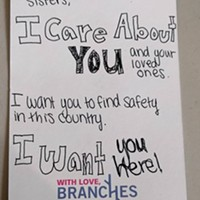 Read notes local churchgoers wrote after Trump's election to show love to local refugees