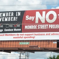 Councilmembers Beggs and Mumm never voted on Monroe  lane reduction — but billboard targets them anyway