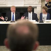 Trump Defends Health Care Bill Over Lunch With GOP Senators