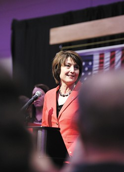 Cathy McMorris Rodgers says she has no reason not to believe the women who have accused Donald Trump of sexual harrassment. - YOUNG KWAK