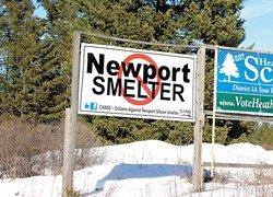 An anti-smelter sign near the site of the proposed smelter. - QUINN WELSCH PHOTO