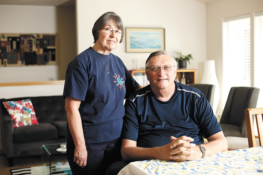 "Yvonne and Ron Rentner are one of the couples fostering refugee children through Lutheran Community Services Northwest. ""Refugees and immigrants are the people we want and have historically been the strength of this country,"" Ron says. - YOUNG KWAK"