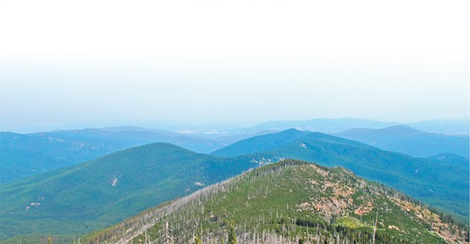 The Kettle Crest Trail runs 44 miles through the Colville National Forest.