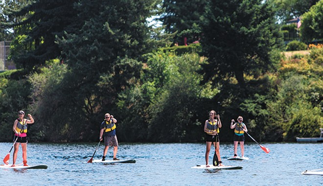 Never paddleboarded? Try it this week.