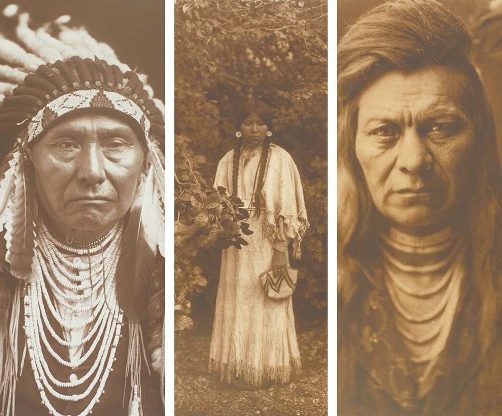 From left: Chief Joseph, 1903; Nespilim Girl, 1905; and Black Eagle – Nez Perce, 1903. - NORTHWEST MUSEUM OF ARTS & CULTURE