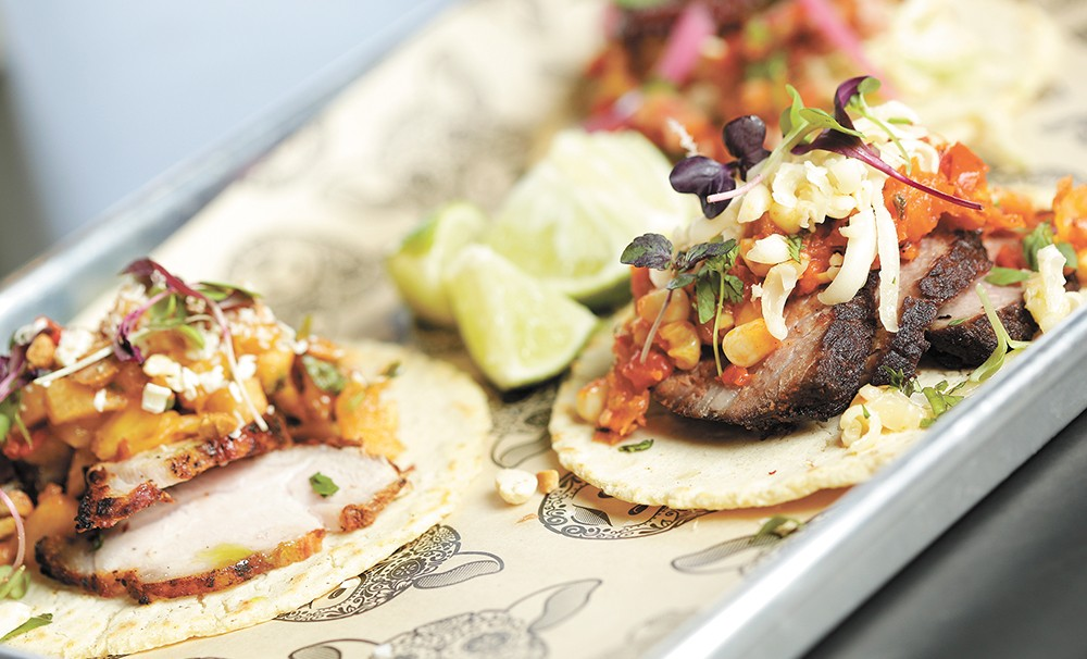 Cochinito's carne asada taco is just $3.50 during happy hour. - YOUNG KWAK