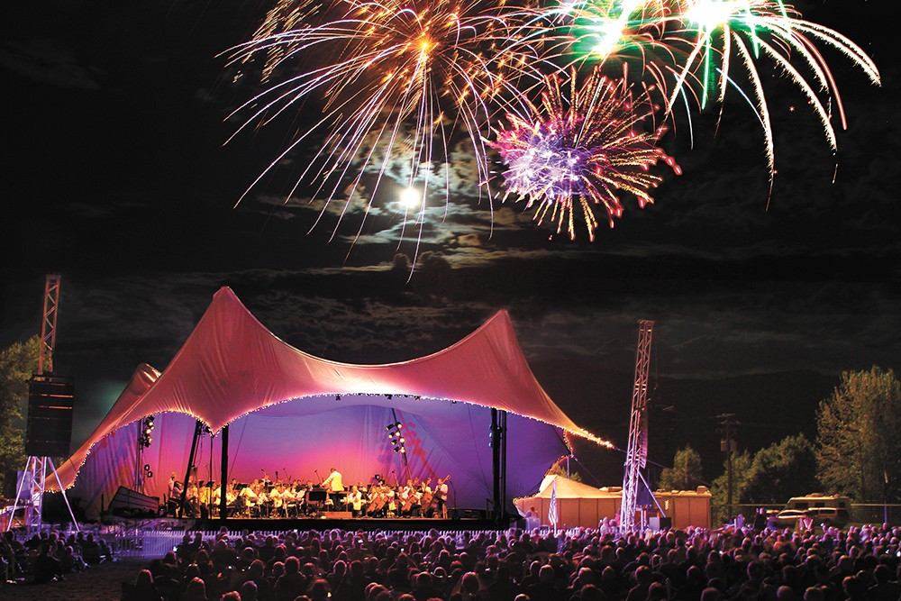 The Festival at Sandpoint ends with the Symphony and fireworks.