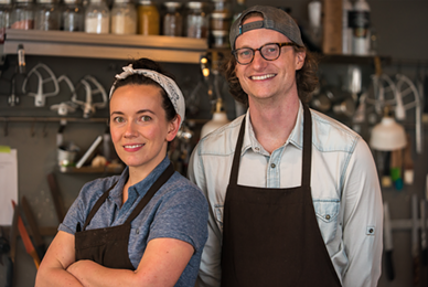 Charlotte and Jordan Ripley launched Brunchkin this spring. - ERICK DOXEY