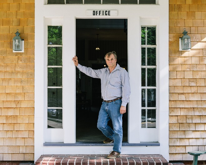 Rob Hurst, manager of Edgartown Commons on Martha's Vineyard, was unable to get visas for five Jamaican workers who had long worked at the hotel, in Edgartown, Mass., Aug. 31, 2018. Corporate leaders are claiming the Trump administration has made it harder to hire foreigners by denying visas, requiring more information and delaying approvals. - ELIZABETH CECIL/THE NEW YORK TIMES